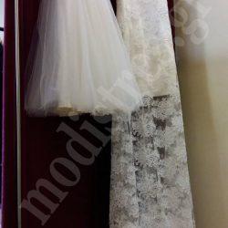 Φόρεμα παρανυφάκι με δαντέλα τούλι