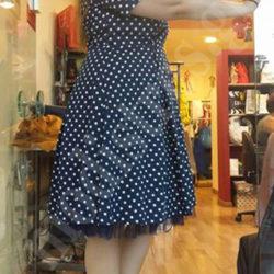Φόρεμα πουά για βάπτιση